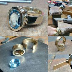 36 vind-ik-leuks, 7 reacties - Daniel Valencia (@jewelryclassdc) op Instagram: '#workinprogress #wip #handmade #aquamarine #custommade #oneofakind #goldjewelry…'