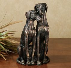 Animal Dog Figurine Sculpture Statue Pointer dogs accent Table Floor sculpture