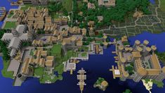 Some people made a small city on the server I play.. - Imgur