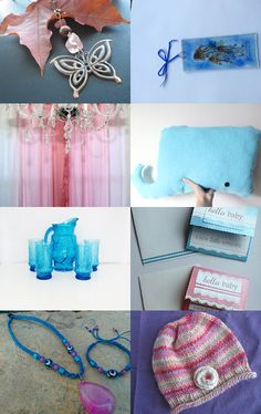 Pink and Blue by Kathy and Wayne on Etsy--Pinned with TreasuryPin.com