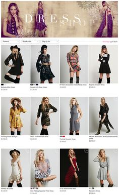 Free People - Dresses - mix of crops, full story styling & h/m