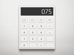 Calculator designed by Mathieu Odin. Connect with them on Dribbble; Interface Design, User Interface, Icon Design, Web Design, Graphic Design, Mortgage Repayment Calculator, Ui Buttons, What Is Meant, Computers