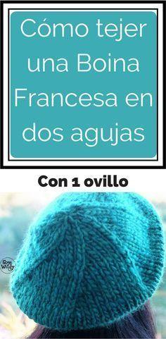 Boina francesa Form Crochet, Knit Crochet, Crochet Hats, Summer Knitting, Baby Knitting, Hand Knit Blanket, Knitting Videos, Crochet Clothes, Knitted Hats