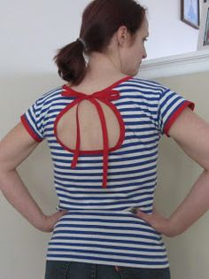 Refashion Co-op: Spring t-shirt refashion #1 - Nautical