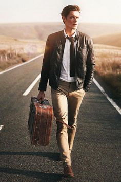 One of these days I'm going to walk down a deserted highway in an awesome outfit with a 40 year old suitcase, too.