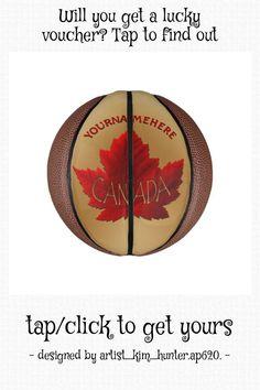 Canada Basketball Personalized Maple Leaf Balls - tap, personalize, buy right now! #canada, #basketball, #custom, #personalized, #sports,