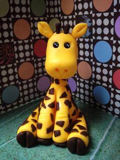 Gumpaste baby giraffe