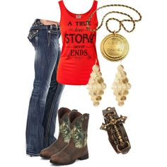 miss me jeans & camo boots♥ I could pass on the necklace...