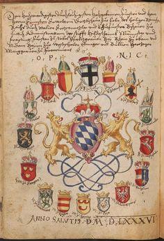 Hofkleiderbuch (Abbildung und Beschreibung der Hof-Livreen) des Herzogs Wilhelm…
