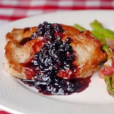 Blueberry Balsamic Pork Chops #Newfoundland, #recipes, #RockRecipes, #cooking, #food, #baking, #food #photography, #family, #meals, #StJohns Twitter: @RockRecipes