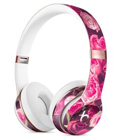 Vibrant Pink Vintage Rose Field Full-Body Skin Kit for the Beats by Dre Solo 3 Wireless Headphones