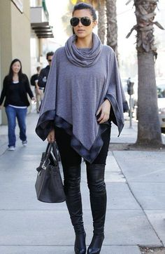 Kim Kardashian winter style