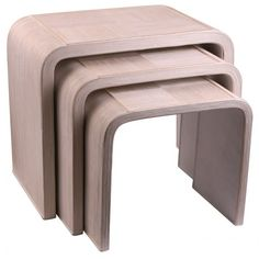 Bamboo Side Tables - Set of Three - White  £199.99