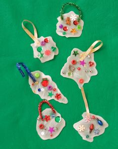 Glue Ornaments!  I've never seen this, but  a must for little ones next year.