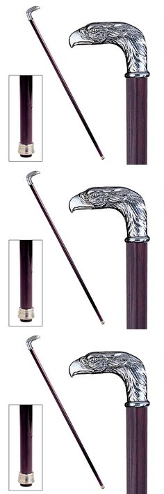 Canes and Walking Sticks 182060: Italian Pewter Ornate Polished Hand Crafte Eagle Head Walking Stick Cane New -> BUY IT NOW ONLY: $104.88 on eBay!