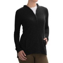 Max Studio Cashmere Hooded Cardigan Sweater (For Women) in Black - Closeouts