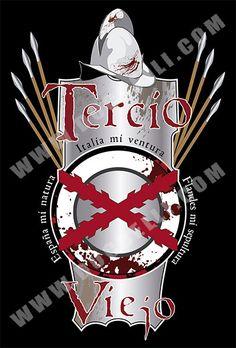 CAMISETA TERCIO VIEJO - Camisetas con Historia - DucBelli Conquistador, Don Juan, Armor Of God, Men In Uniform, 17th Century, Crests, Spanish, War, Empire