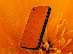FL Luxury Product iPhone 4 alligator orange Iphone 4, Phone Cases, Orange, Luxury, Leather, Phone Case