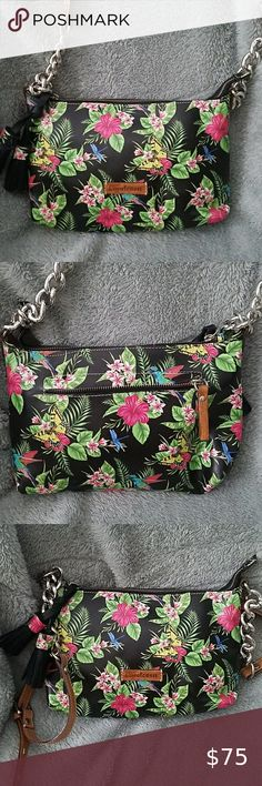 Floral Barco Key Buckle Coin Purse For Womens