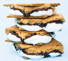 Why I've never thought to add peanut butter to a s'mores is beyond me. Andes Mint Chocolate, Chocolate Graham Crackers, Pinoy Food, New Recipes, Recipies, Favorite Recipes, Peanut Butter, Sweet Tooth, Dessert Recipes