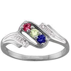Diamond Accent 2-6 Stones Mother's Ring #jewlr
