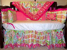 Custom Designed Crib Bedding Using Dena by SimplySassynSweet