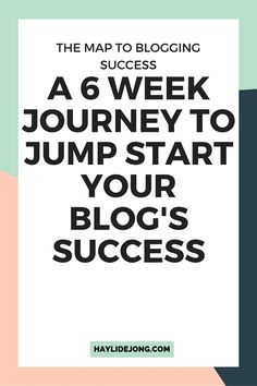 The map to blogging success is a 6 week journey that will help you buildup your blogs content plan, build an email list and grow your social media following so that you can start to see the success that you deserve in your blog and business.