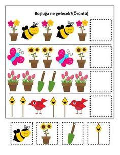 Spring Activities for Kids Preschool Learning Activities, Spring Activities, Toddler Learning, Toddler Activities, Preschool Activities, Pattern Worksheet, Math Patterns, Preschool Worksheets, Kids Education