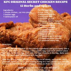 KFC Copycat Chicken Recipe