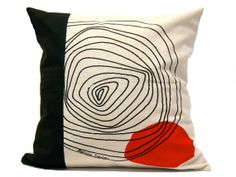 Moderne noir géométriqueoreiller oreiller par Beccatextile