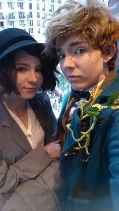 Tina and Newt cosplays at Katsucon!