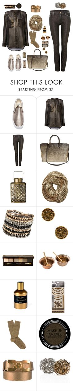 """""""vans metallic"""" by bodangela ❤ liked on Polyvore featuring Vans, Raquel Allegra, 7 For All Mankind, Burberry, DAY Birger et Mikkelsen, ALDO, 14th & Union, Bobbi Brown Cosmetics, Hervé Gambs and Wet Seal"""