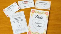 41 klasických a romantických textů na svatební oznámení - Svatební šílenství Place Cards, Place Card Holders, Wedding, Casamento, Hochzeit, Weddings, Mariage