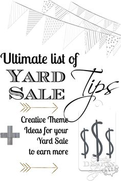 The Ultimate Guide to Yard Sale Tips - Country Design Style