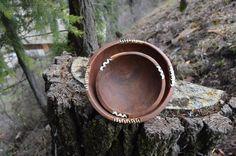 Vintage tribal wooden bowls hand craved by Desertmoonrisevtg