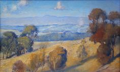 """""""View of the Dandenongs'- Tom Roberts (1856 - 1931), another leading member of the Heidelberg School"""