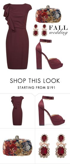 """""""Fall Wedding"""" by tania-alves ❤ liked on Polyvore featuring MaxMara, Charlotte Olympia, Alexander McQueen and fallwedding"""