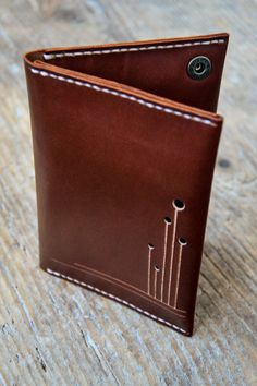 Brown Leather passport holder cover wallet cash by ByHandStore