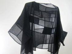 Yoshiko Komatsu, Description: Uses Japanese Antique Kimono Ro-Silk and Sha-Silk Fabric.Seams and Moire are part of design. Textiles, Mochila Jeans, Moda Casual, Fabric Manipulation, Fashion Sewing, Mode Style, Mode Inspiration, Refashion, Fashion Details