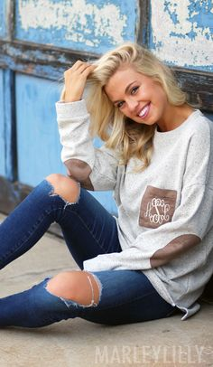 OUR FAVE Monogrammed Preppy Patch Tunic! Only at Marleylilly! Shop now https://marleylilly.com/product/monogrammed-preppy-patch-tunic/