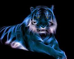 Fractal Tiger by mceric on DeviantArt Fractal Images, Fractal Art, Fractal Design, Dcc Rpg, Lion Tigre, Tiger Wallpaper, Pop Art, Blue Tigers, Tiger Art