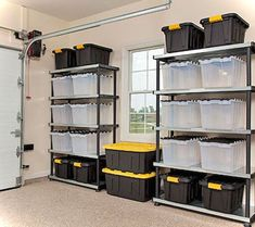 Are you a person that has a messing garage that is not prepared. Below are 42 garage storage ideas that will certainly assist you prepare your garage like a champ. how-to-organize-your-garage. Garage Organization Tips, Garage Storage Solutions, Diy Garage Storage, Garage Shelving, Garage Shelf, Basement Storage, Storage Hacks, Storage Ideas, Shelving Units