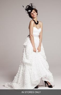 Christian Siriano Strapless Wedding Dress with Rosette Covered Skirt (In Stores Only) | Nordstrom