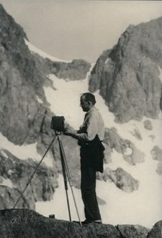 Ansel Adams Photographing in the High Sierra