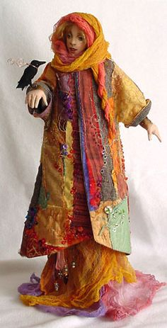 art dolls -- I want to make this coat for myself. It would be perfect on those super cold nights at Burning Man.