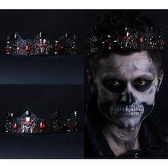 Black Crown, Gothic Crown, Zombie Boy, Ledy Gaga costume Headpiece,... ❤ liked on Polyvore featuring men's fashion, men's clothing, goth mens clothing, gothic mens clothing, mens clothing and men's apparel