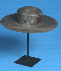 19th Century Amish Anniversary Tinware Hat on Stand