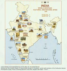 A Map of Select UNESCO World Heritage Sites in India