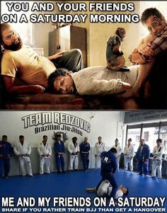 Martial arts #BJJ humor. funny because it's true.