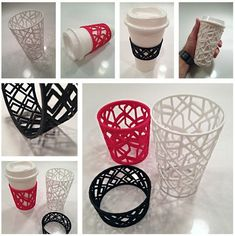 Custom Sleeve for Coffee and Tea Cups by sethmoser. #3dprinting